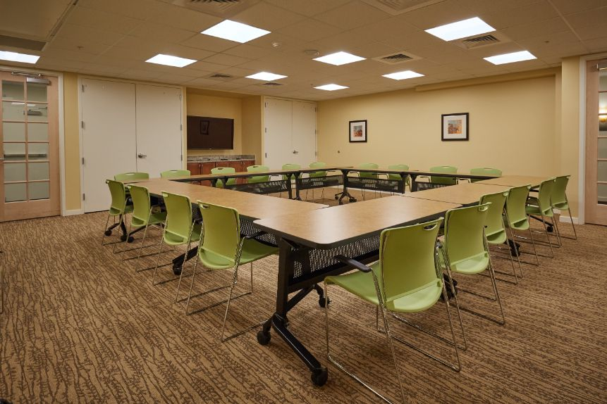 senior living meeting area